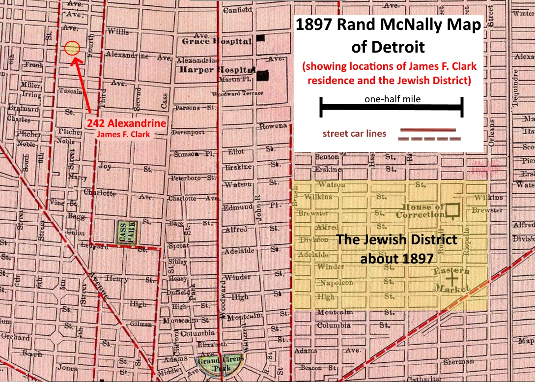 The biography of james f clark sr 1897 rand mcnally maps of detroit showing where carrie clark and james f clark lived assuming that the streets back then were numbered similarly to the aiddatafo Image collections